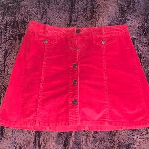 Red Urban Outfitters BDG Corduroy Skirt